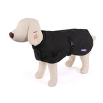 Reflective Nylon Dog Coat Int. 53cm Black