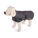 Dog Coat Medium 46.5cm Dual Collar Grey