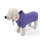 Dog Coat with Removable Hood 53cm Purple/Black