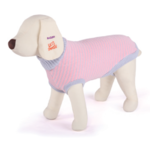 Dog Jumper Coat Medium 46.5cm - Rose / Grey