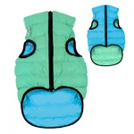 AiryVest Lumi Glow in the Dark Dog Coat XS30 Blue/Light Green