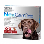 Nexgard Extra Large 25.1-50kg 3pk (Red)