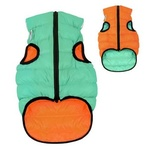 AiryVest Lumi Glow in the Dark Dog Coat S30 Orange/Light Green