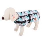 Kazoo Funky Abstract Dog Coat - Azure
