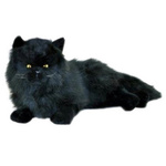 Onyx the Black Cat - 38cm lying