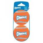 "Chuckit! Tennis Ball - Medium 6.4cm (2.5"") 2 Pack (sleeve)"