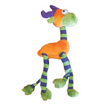 Dog Toy Plush Long Legs Orange