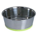 Rogz Slurp Stainless Steel Bowl Lime Extra Large