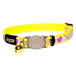 Cat Collar - Safeloc Reflectocat Dayglo Bird 8mm