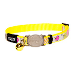 Rogz Reflectocat Safeloc Collar Dayglo 11mm