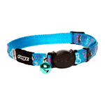 Cat Collar - Safeloc Neocat Turquoise Candystripes 11mm