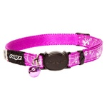 Cat Collar - Safeloc Silkycat Purple Filigree 11mm