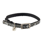 Rogz Sparklecat Pin Buckle Collar Black 11mm