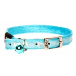 Rogz Sparklecat Pin Buckle Collar Turquoise 11mm