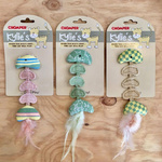 Chomper Kylie's Jute Vintage Fish Skeleton with Feather Tail