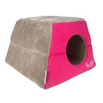 Rogz Cat Bed Igloo - Grey and Pink