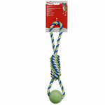 Dogit Tennis Ball Rope Toy (Spiral)