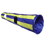 Crinkle Cat Tunnel 1.3m Blue and Yellow