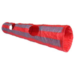 Crinkle Cat Tunnel 1.3m Red and Grey