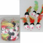 Coloured Mice Cat Toy