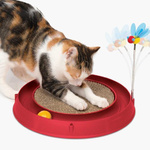 Catit Play 3 in 1 Scratch Pad with Circuit Toy and Bouncy Bee