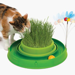 Catit Play 3 in 1 Cat Grass Planter with and Bouncy Bee