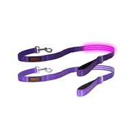 DOGlite LED Dog Leash - Purple Haze Medium