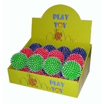 Spikey Ball PVC Dog Toy - Assorted Colours