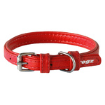 Rogz Leather Pin Buckle Collar Red Xsmall 12mm