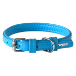 Rogz Leather Pin Buckle Collar Turquoise Xsmall 12mm