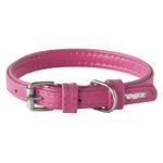 Rogz Leather Pin Buckle Collar Pink Xsmall 12mm