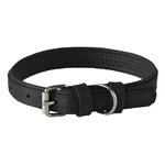 Rogz Leather Pin Buckle Collar Black Small 15mm