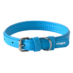 Rogz Leather Pin Buckle Collar Turquoise Small 15mm