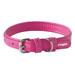 Rogz Leather Pin Buckle Collar Pink Small 15mm