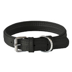 Rogz Leather Pin Buckle Collar Black Medium 20mm