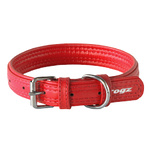 Rogz Leather Pin Buckle Collar Red Medium 20mm