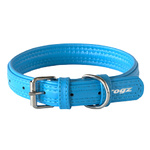 Rogz Leather Pin Buckle Collar Turquoise Medium 20cm
