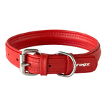 Rogz Leather Pin Buckle Collar Red Large 25mm