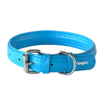 Rogz Leather Pin Buckle Collar Turquoise Large 25mm