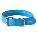 Rogz Leather Pin Buckle Collar Turquoise Xlarge 35mm
