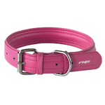 Rogz Leather Pin Buckle Collar Pink Xlarge 35mm