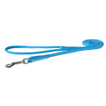 Rogz Leather Round Fixed Lead Turquoise Ex Small 8mm Diameter