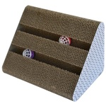 Cat Scratch Pad - Triangle w/ Balls