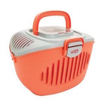 Paws2Go - Cat/Small Pet Carrier - Coral/Grey