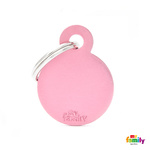 Pet Name ID Tag Pink Small Circle