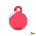 Pet Name ID Tag Red Small Circle