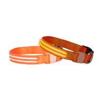 DOGlite LED Dog Collar - Orange Sunset