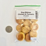 Chicken & Turmeric Dog Bikkies (10 Pack)