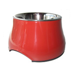 Dogit 2 in 1 Elevated Dog Dish Red 300ml