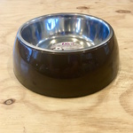 Diva Chocolate Pet Bowl with Stainless Steel Insert 18cm